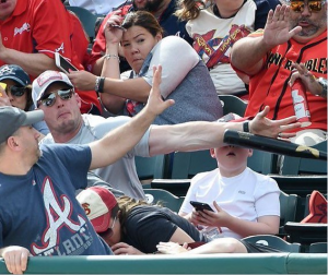 MLB Bat Throwing: The Grim Reaper Crowd Surfs