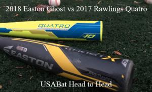 Easton Ghost X vs Rawlings Quatro | Exit Velo Data